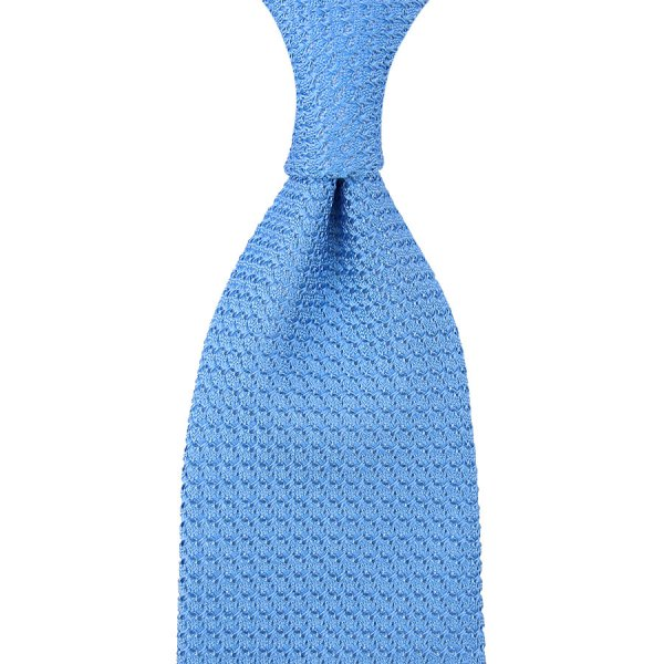 Grenadine / Garza Grossa Tie - Powder Blue - Hand-Rolled