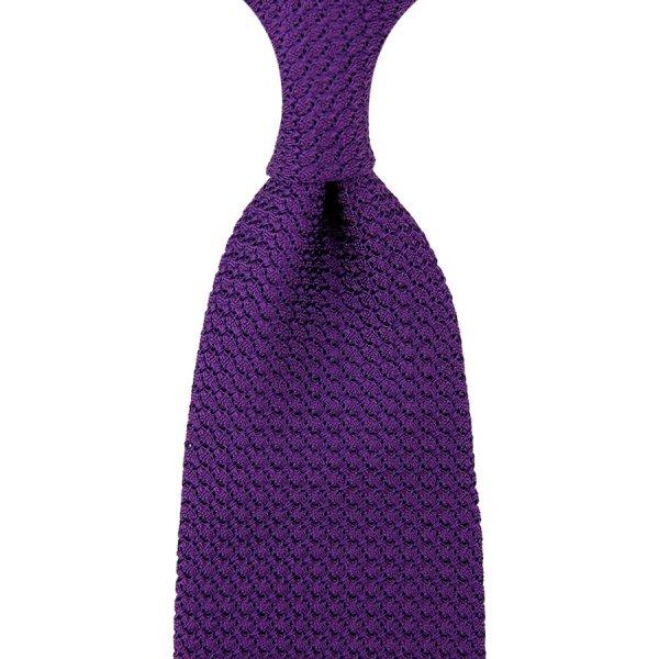 Grenadine / Garza Grossa Tie - Purple - Hand-Rolled