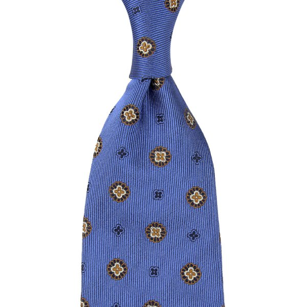 Floral Jacquard Silk Tie - Willow - Hand-Rolled