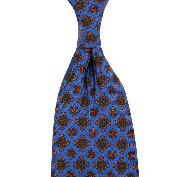 Ancient Madder Silk Tie - Madder Blue VI - Hand-Rolled