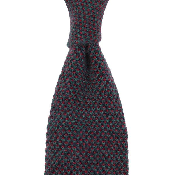 Knit Tie - Forest Green Birdseye - Wool / Cashmere