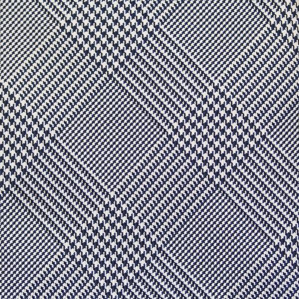 Glencheck Silk Bespoke Tie - Navy / White