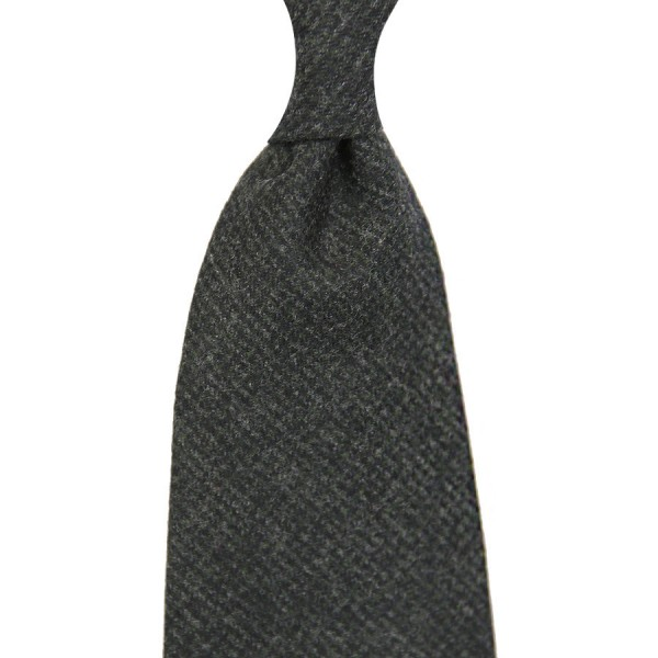 Caccioppoli Houndstooth Wool Tie - Bottle Green