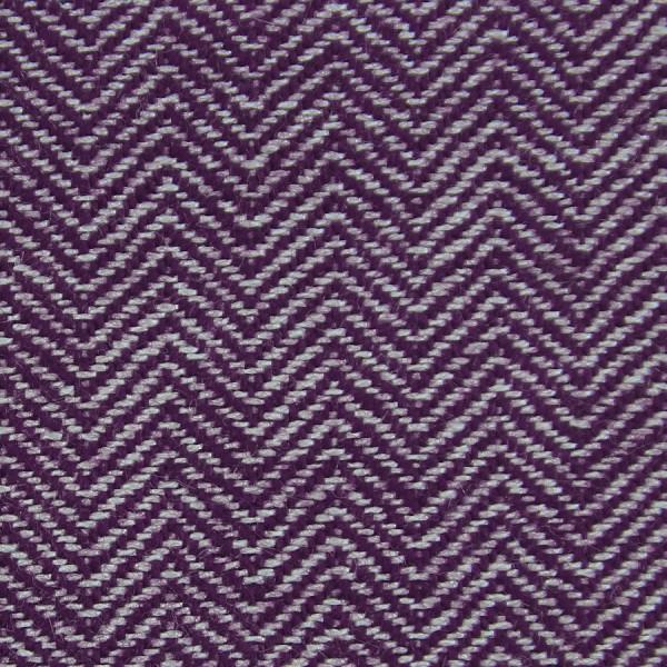Herringbone Cashmere Bespoke Tie - Purple