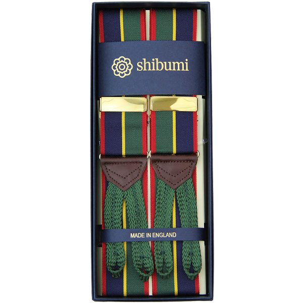 Barathea Braces - Navy / Green / Red / Yellow