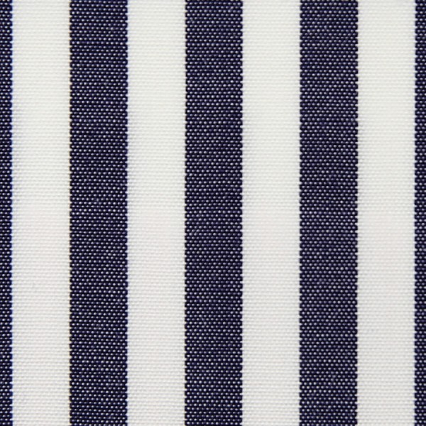Poplin Made-To-Order Shirt - White / Navy - Bengal Stripe
