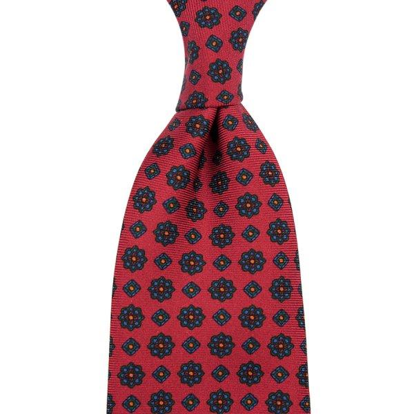 Ancient Madder Silk Tie - Cherry - Hand-Rolled