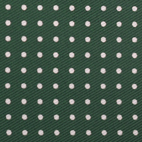 50oz Dotted Printed Silk Bespoke Tie - Green
