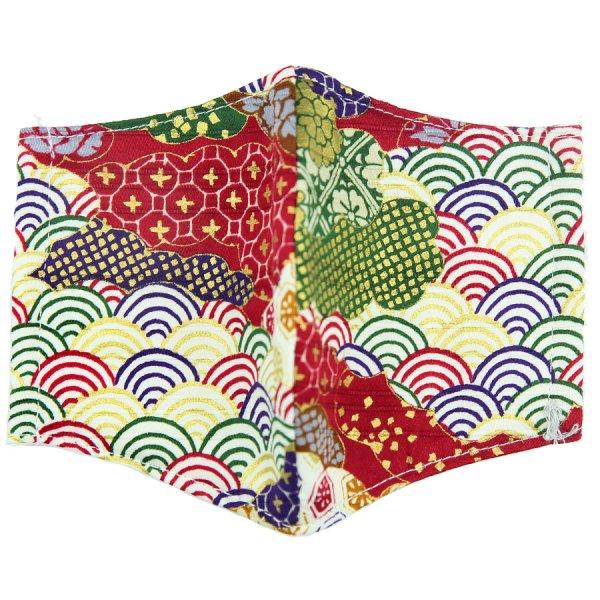 Kimono Motif Washable Cotton Mask - Multicolored VI