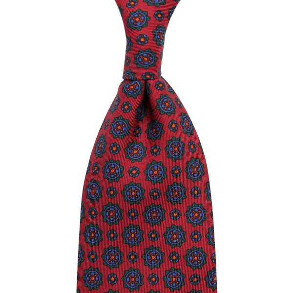 Ancient Madder Silk Tie - Cherry III - Hand-Rolled