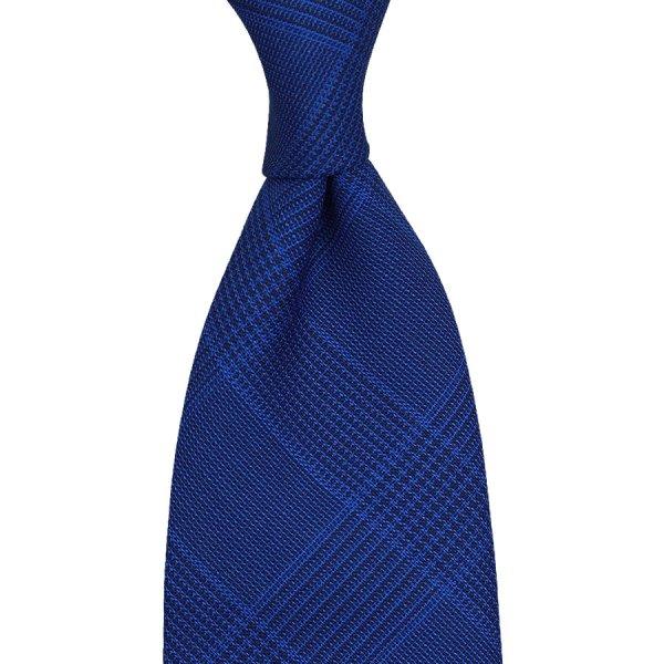 Caccioppoli Fresco Tie - Blue Glencheck - Handrolled