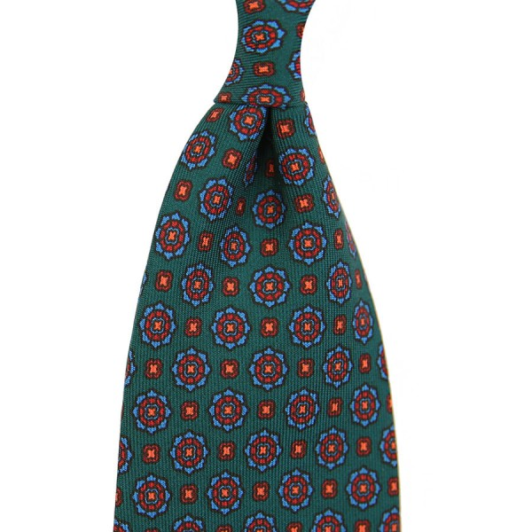Ancient Madder Silk Tie - Green II - Handrolled