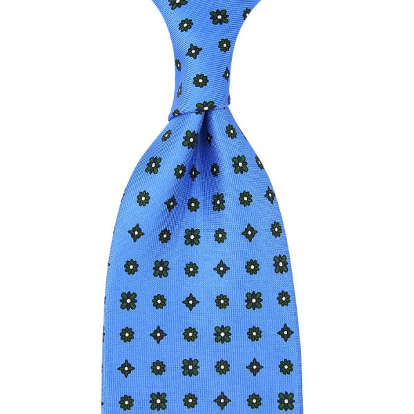 Floral Printed Silk Tie - Willow - Hand-Rolled