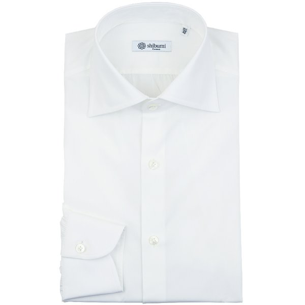 Broadcloth Semi Spread Shirt - White - Slim Fit
