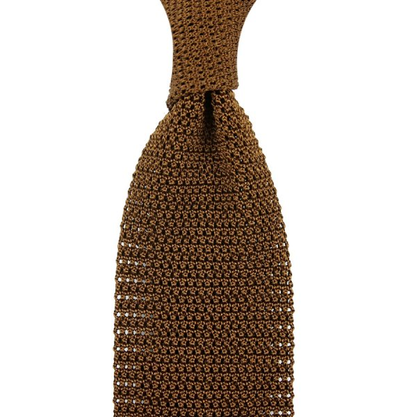 Silk Knit Tie - Copper