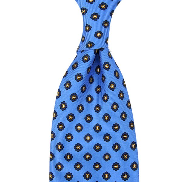 Shibumi-Flower Printed Silk Tie - Willow - Hand-Rolled