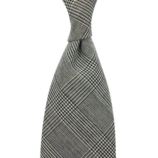 Vintage Fox Brothers Glencheck Wool Tie - Grey