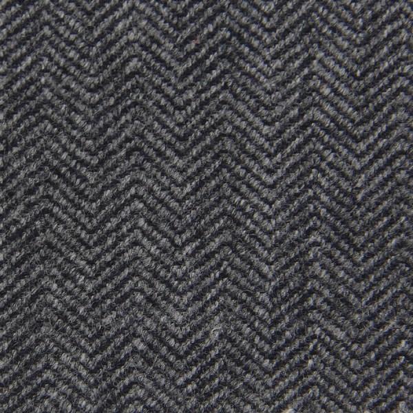Herringbone Cashmere Bespoke Tie - Grey