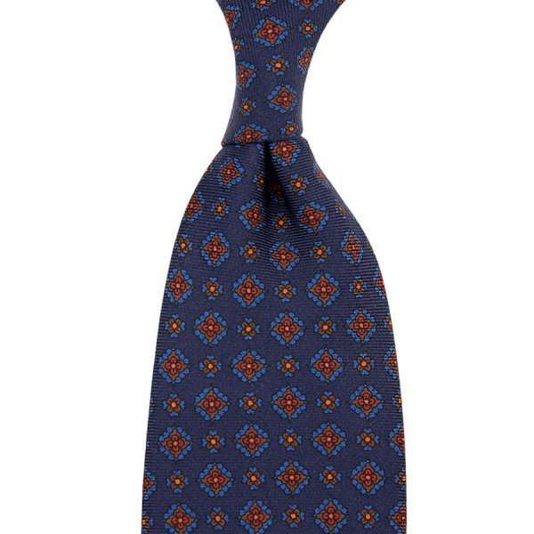 Ancient Madder Silk Tie - Navy XI - Hand-Rolled