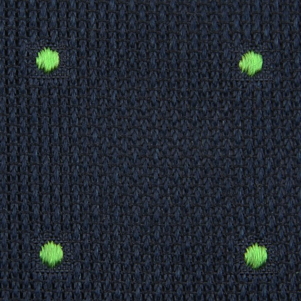 Dotted Grenadine / Garza Fina Bespoke Tie - Midnight / Green