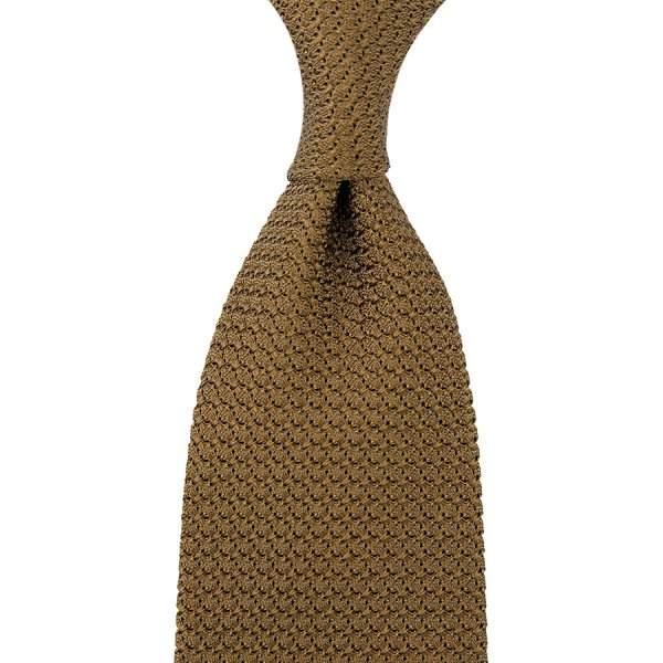 Grenadine / Garza Grossa Tie - Oatmeal - Hand-Rolled