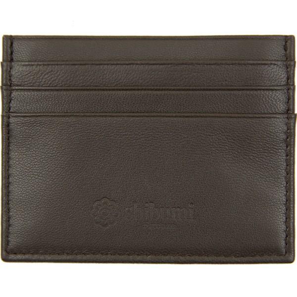 Scuola del Cuoio x Shibumi Credit Card Case - Chocolate - Lambskin