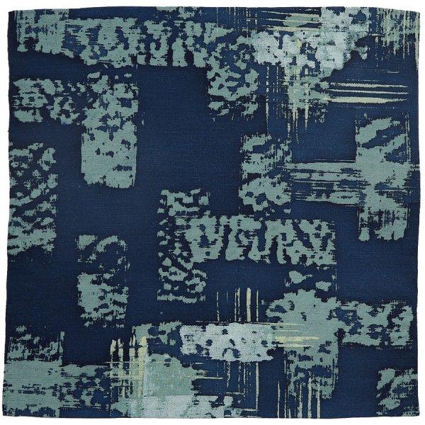 Vintage Kimono Silk Pocket Square - Navy