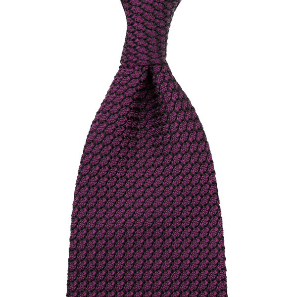 Grenadine / Garza Grossa Tie - Purple - Hand-Rolled
