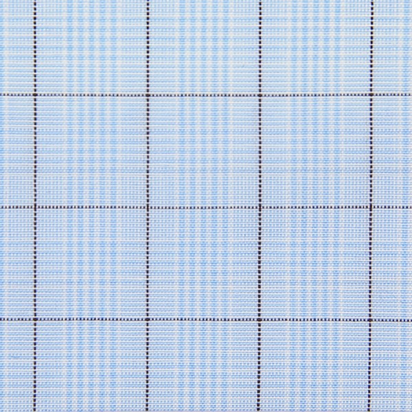 Poplin Made-To-Order Shirt - Sky Blue / Brown - Glen Check