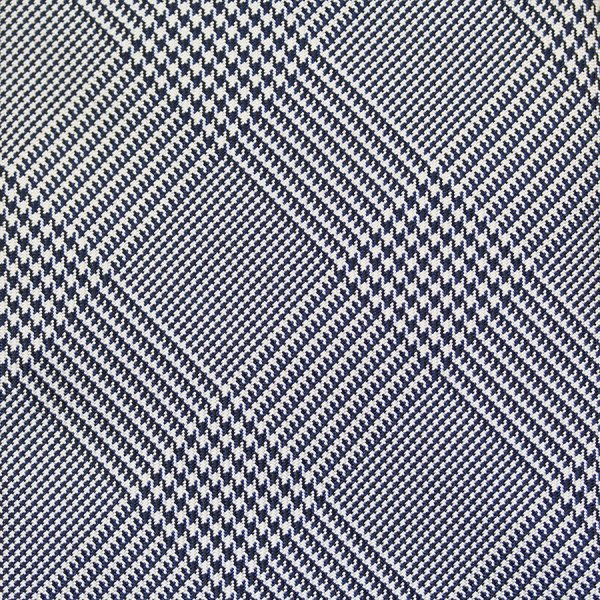 glencheck silk bespoke tie navy white glen plaid check suit