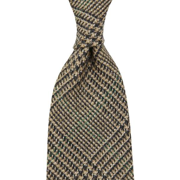 Dugdale POW Wool Tie - Brown - Handrolled