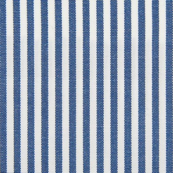 Poplin Made-To-Order Shirt - White / Navy - Pencil Stripe