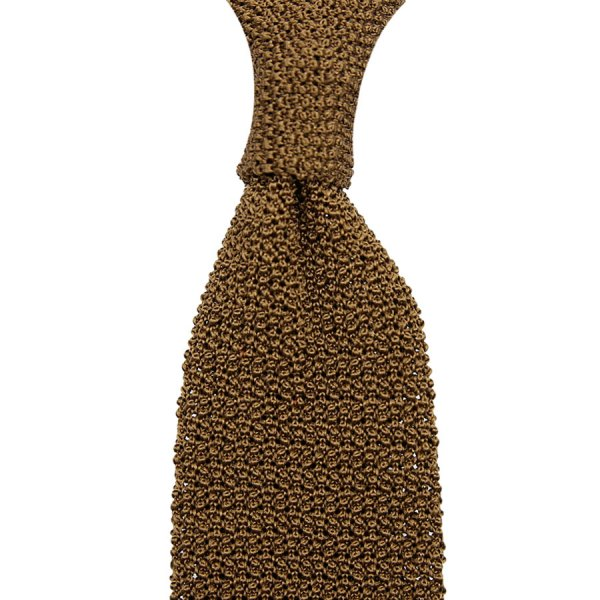 Crunchy Silk Knit Tie - Copper