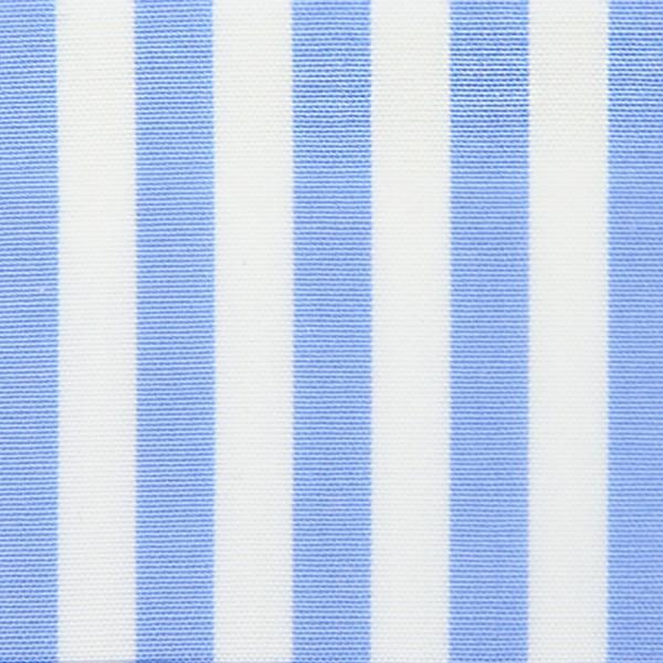 Poplin Made-To-Order Shirt - White / Sky Blue - Bengal Stripe