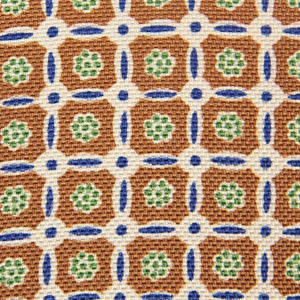 Floral Printed Panama Silk Bespoke Tie - Copper