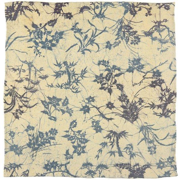 Vintage Kimono Silk Pocket Square - Beige