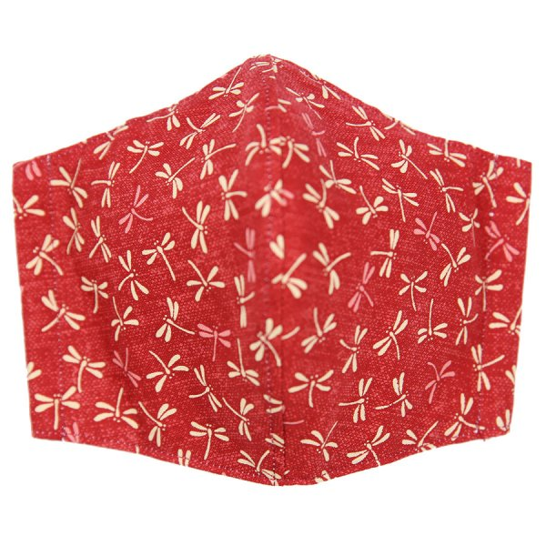 Kimono Pattern Washable Cotton Mask - Red II