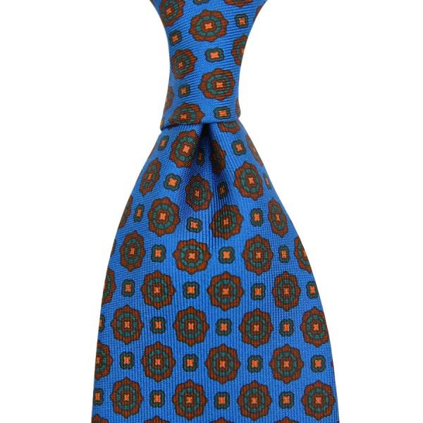 Ancient Madder Silk Tie - Madder Blue II - Handrolled