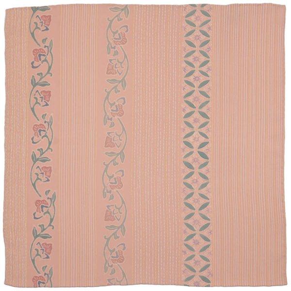 Vintage Kimono Silk Pocket Square - Pink