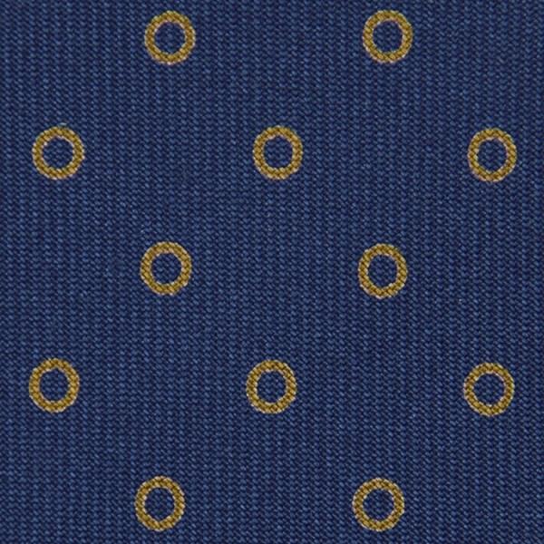 Circle Printed Bespoke Silk Tie - Blue
