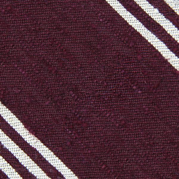Triple Stripe Shantung Bespoke Tie - Burgundy