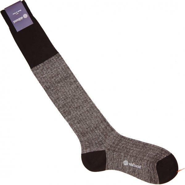 Mottled Knee Socks - Brown - Cotton/Linen
