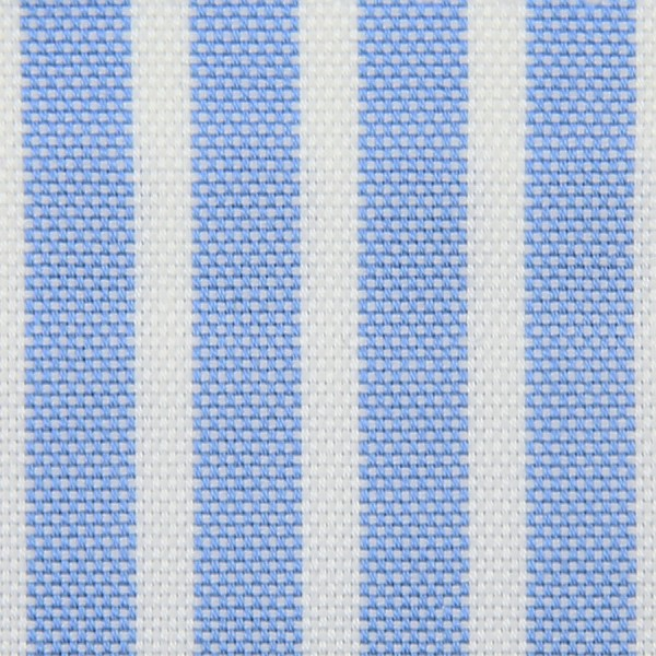 Oxford Made-To-Order Shirt - White / Sky Blue - Reverse Stripe