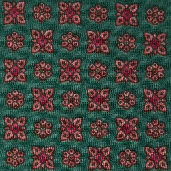 Ancient Madder Silk Bespoke Tie - Green