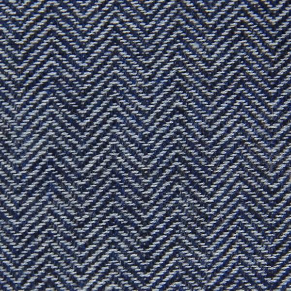 Herringbone Cashmere Bespoke Tie - Navy