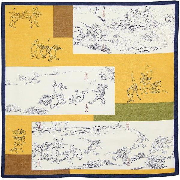 Ukiyo-e Cotton Handkerchief - Yellow
