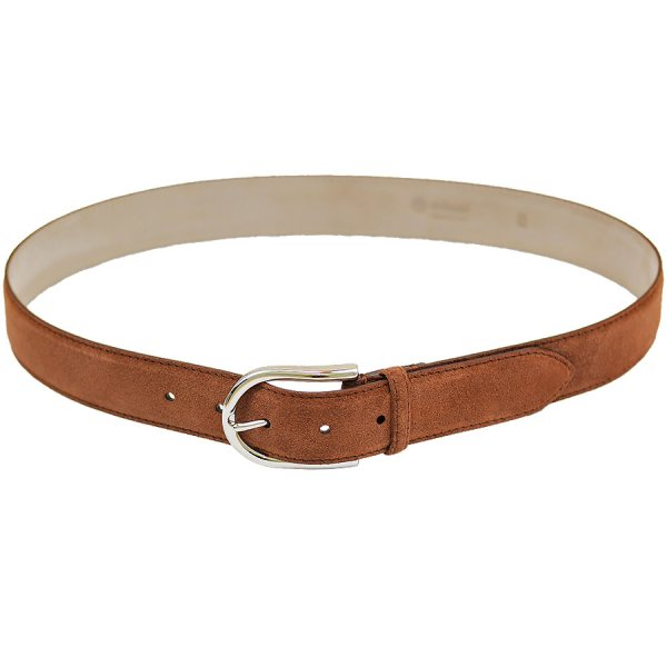Suede Leather Belt - Honey