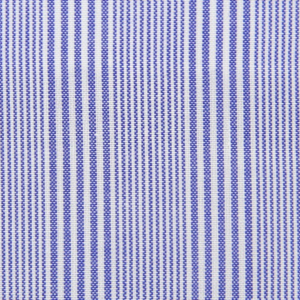 Poplin Made-To-Order Shirt - White / Blue - Fantasy Stripe