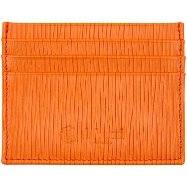 Scuola del Cuoio x Shibumi Credit Card Case - Orange - Calfskin