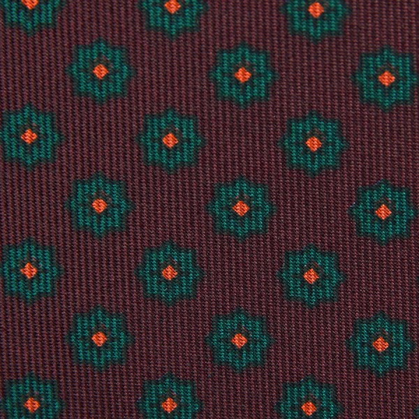 Ancient Madder Silk Bespoke Tie - Burgundy II